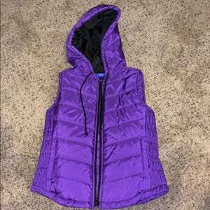 City Streets Purple Zip up Vest